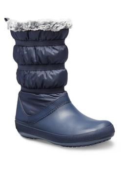 nowy produkt odebrać unikalny design Śniegowce damskie niebieskie Crocs płaskie