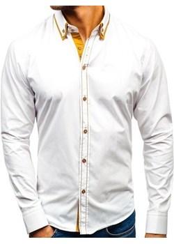 Koszula męska NEW MEN 7185 biała BIAŁY denley pl szary