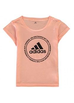 Bluzka dziewczęca Adidas z krótkim rękawem