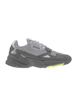 Szare buty sportowe damskie adidas falcon, wyprzedaż, wiosna