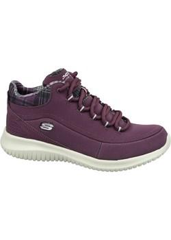 Fioletowe buty sportowe damskie skechers, wiosna 2020 w Domodi