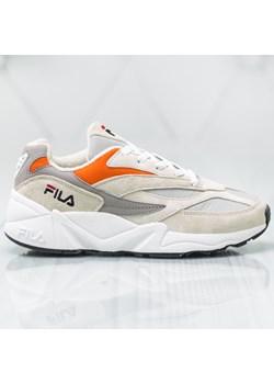 Sneakersy damskie Fila białe na platformie bez wzorów