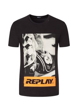 T-shirt męski Replay w nadruki
