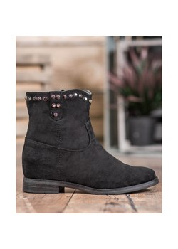 Botki Ideal Shoes zamszowe