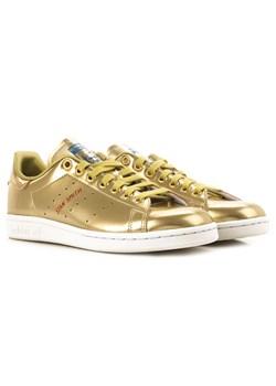 Złote trampki damskie adidas, wiosna 2020 w Domodi