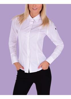 Koszula damska Dedra z długim rękawem bawełniana fioletowa z  jETNA