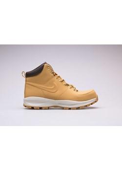 Brązowe buty zimowe męskie Nike sportowe na zimę ze skóry