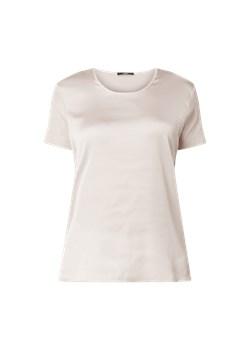 JOOP!  Bluzka z satynowym przodem model 'Tani' Granatowy