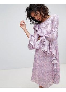 Fioletowe sukienki boho w wyprzedaży, wiosna 2020 w Domodi