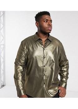 Złote koszule męskie, lato 2020 w Domodi  U4FnB