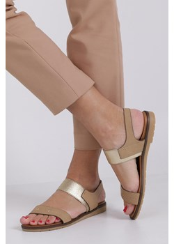 iwet tanie skórzane oryginalne sandały damskie
