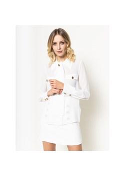 Biała koszula damska z żabotem Elisabetta Franchi Velpa.pl w  AFmm3
