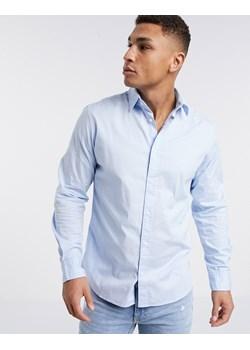 Reserved Koszula z mikrowzorem slim fit Niebieski w Domodi  Dhib4