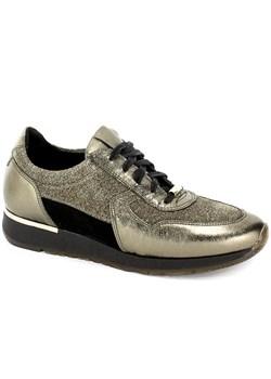 Złote buty damskie karino, wiosna 2020 w Domodi