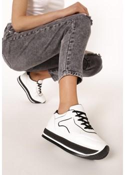 Sneakersy damskie Escoli czarne gładkie wiązane w Domodi