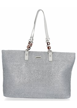 Shopper bag David Jones matowa na ramię duża