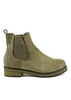 Botki Ryłko 8IW81_T_WB5F Zielone zamsz Arturo obuwie w Domodi