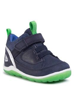 Granatowe buty zimowe dziecięce ecco, wiosna 2020 w Domodi