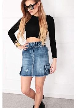 Jeansowa poszarpana spódnica gurina cena, opinie | sklep