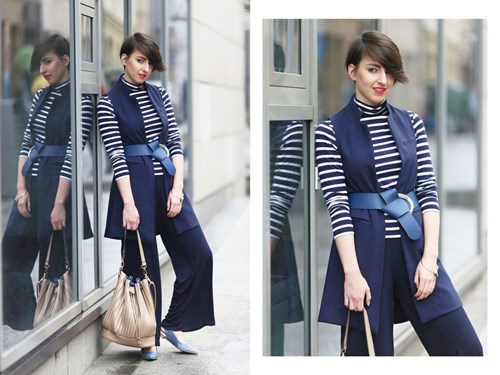 minimalism in navy blue