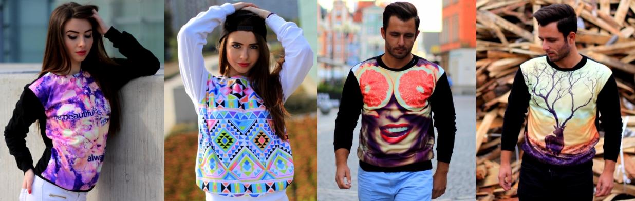 Bluzy z printami dla niego i dla niej