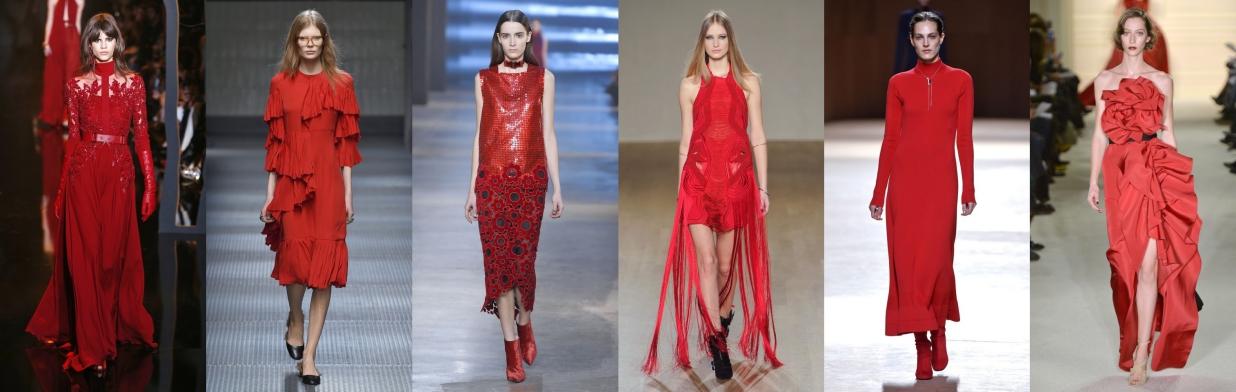 Inspiracje z wybiegów: czerwona sukienka