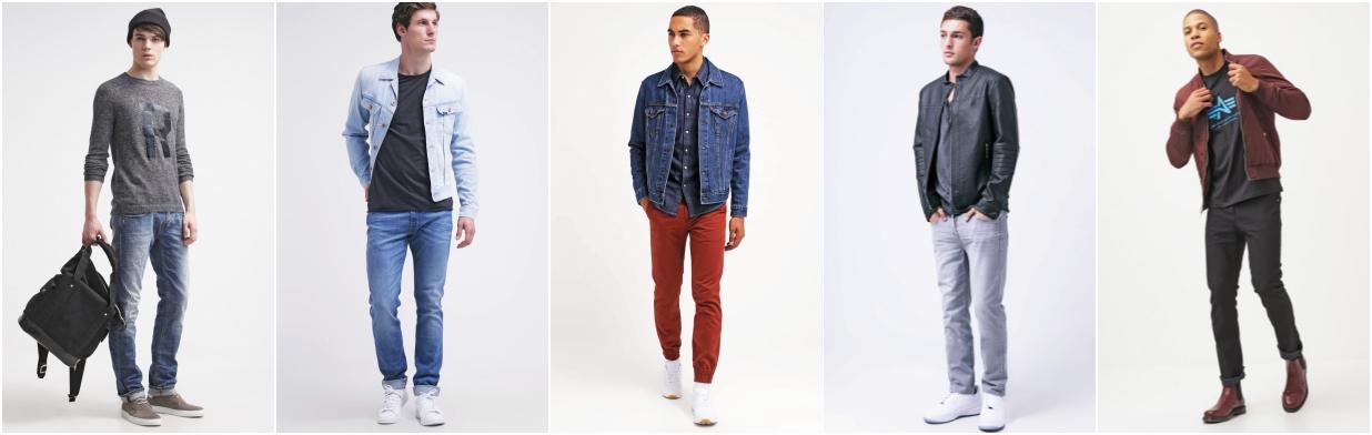 Jesienne jeansy dla mężczyzn