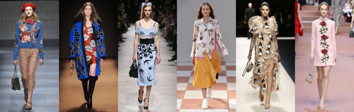Moda z wybiegu: natura na ubraniach