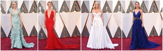 Oscary 2016: kreacje gwiazd z czerwonego dywanu