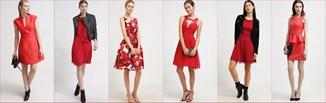 Czerwone sukienki na jesień