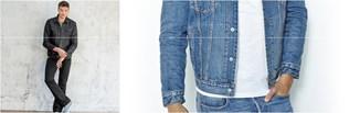 Męskie kurtki dżinsowe