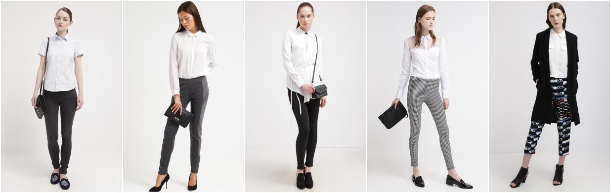 Top zestawy z białą koszulą